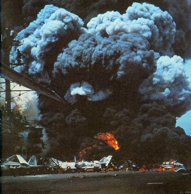 Пожар на авианосце «Форрестол»