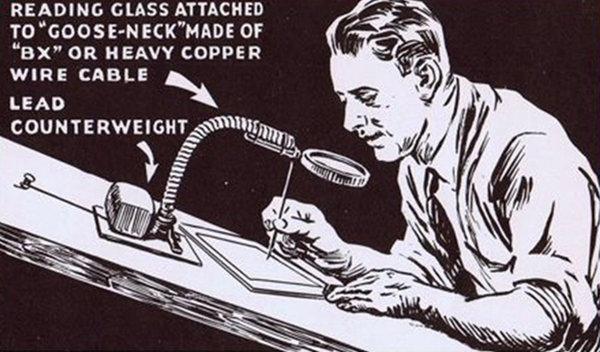 Кадр, демонстрирующий ретушера, из книги «Как ретушировать снимки для коммерческого использования», выпущенную в Америке в 40-х годах прошлого века.