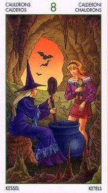 Таро Юных Ведьм. Младшие Арканы. Котлы Tbud08E8SrQ