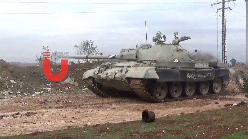Scenes from targeting militants in the western axis of Aleppo