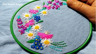 Bunch of flowers Embroidery designs, Cute Embroidery Patterns, Secrets of Embroidery-26, #Miss_A