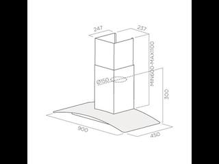 Вытяжка 90 см Jetair купить в интернет-магазине Мвидео в Москве, Спб — Вытяжки кухонные