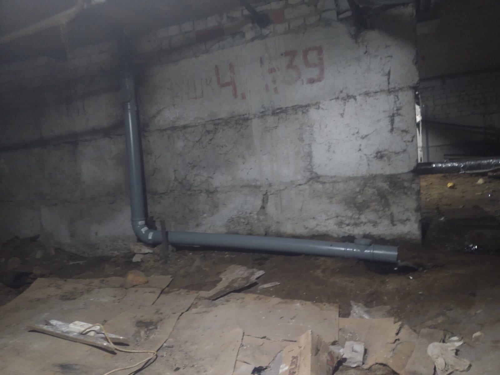Улица Широнинцев дом 13 замена канализационного стояка