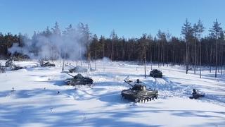 Стрельбы десантников-артиллеристов из САУ «Нона» в Рязанской области