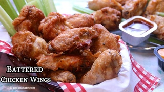 Crispy Garlic Battered Chicken Wings