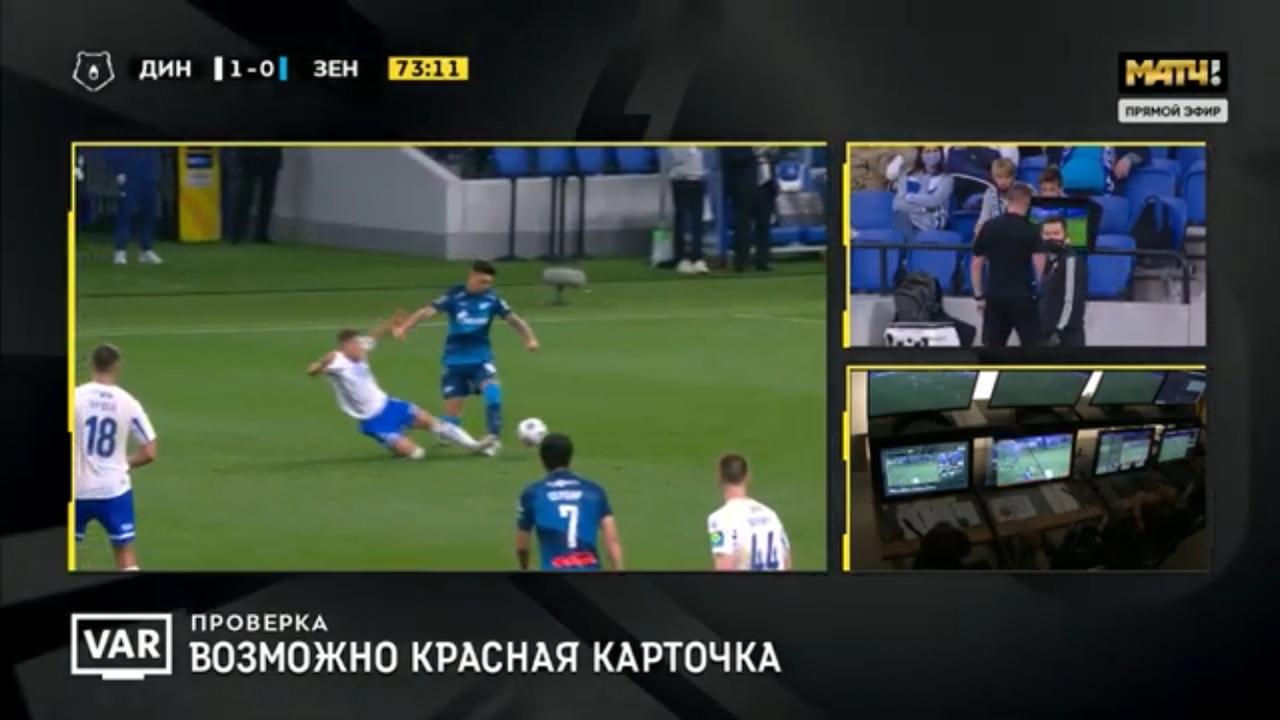 Динамо - Зенит, 1:0. Удаление Скопинцева