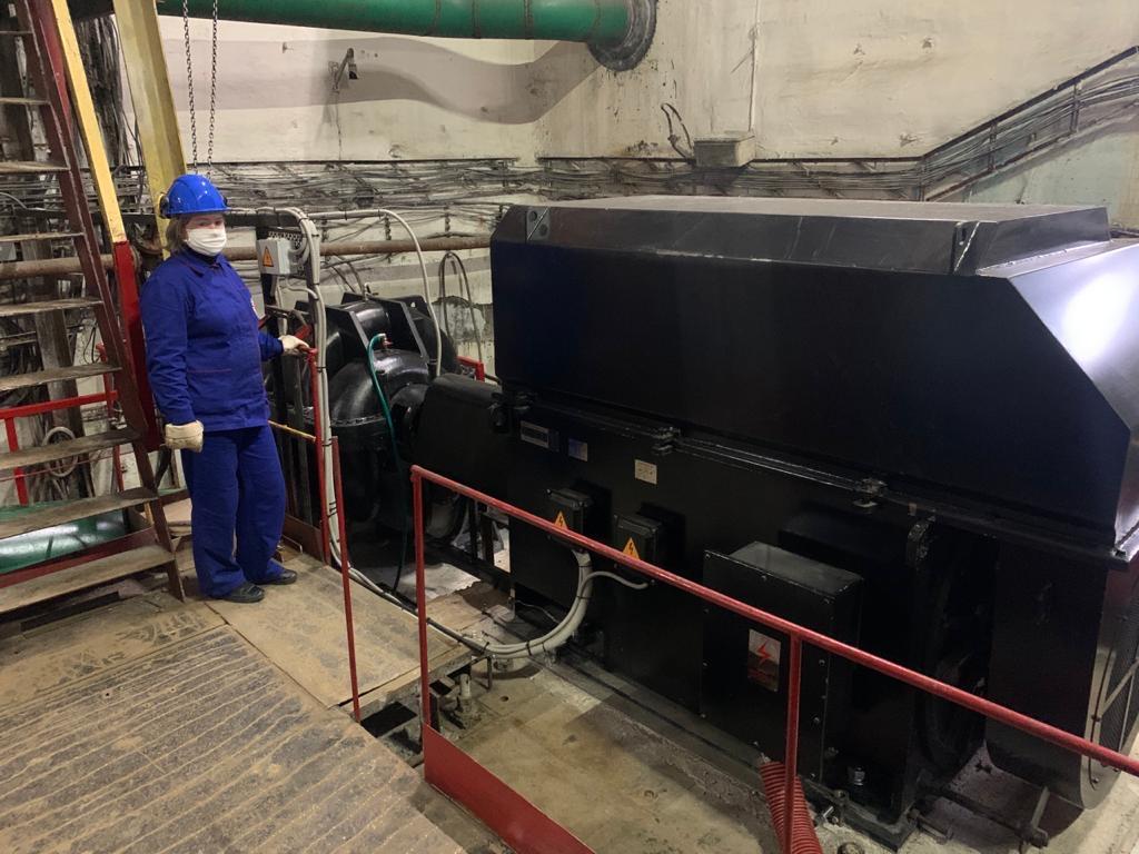 Ввод в эксплуатацию насосного агрегата на 1 подъеме оз. Имандра г. Апатиты