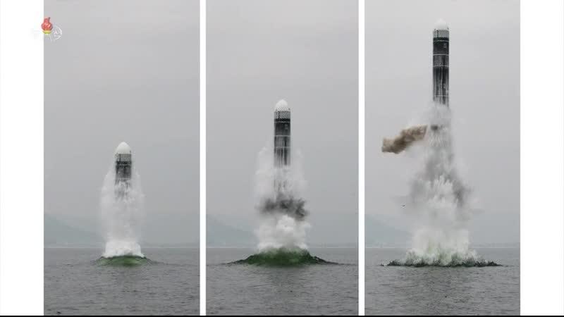 자위적국방력강화의 일대 사변 조선민주주의인민공화국 국방과학원 새형의 잠수함탄도탄 《북극성-3》형시험발사에 성공