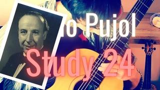 ÉTUDE #24 (Pujol) - Le Guitariste Paresseux | Classical Guitar