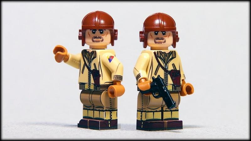 Танкист армии США в Лего формате обзор минифигурки