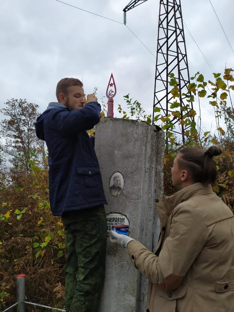 Добровольцы КубГТУ привели в порядок сразу несколько памятников защитникам Кавказа, изображение №3
