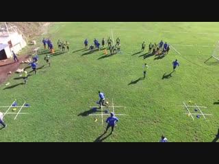 Футбольные упражнения на спринт и координацию