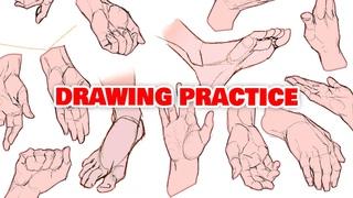 🖐 DRAWING SIMPLE HANDS & FEET (my secret recipe)