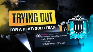 A CHAMPION Goes UNDERCOVER In Tryouts For A Gold Team In Rainbow Six Siege