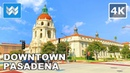 Walking Tour of Downtown Pasadena in Los Angeles County, California USA 2020 Travel Guide 🎧【4K】