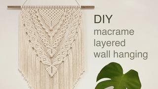 DIY | macrame layered wall hanging | 마크라메 레이어드 월 행잉