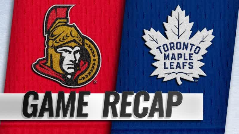 НХЛ регулярный чемпионат Торонто Мэйпл Лифс Оттава Сенаторз 5 4 1 1 3 1 1 2