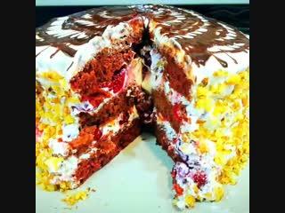 Торт очень усный.попросят добаи.
