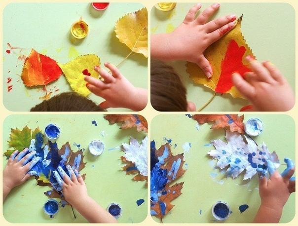 ОСЕННЕЕ ТВОРЧЕСТВО 1. Делаем аппликации из листьев. Нарисуйте часть изображения, а ребенок пусть приклеивает листочки на клей-карандаш. Так у ежика появляются иголки, а у бабочки - крылья. 2.