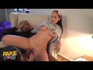 Fake Hostel Big Black Cock covers busty latina in cum