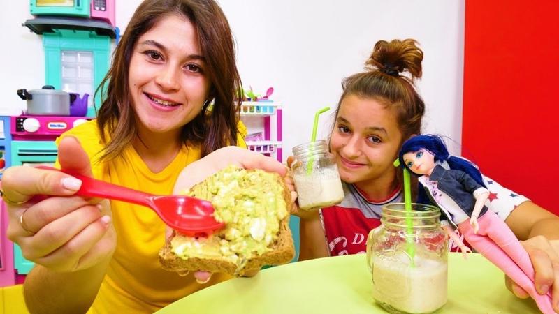 Kız oyunları Marinette ile kahvaltıya smoothie ve avokadolu tost yapalım