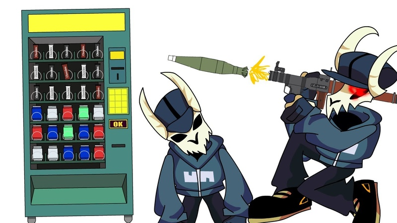 Fnf Tabi vs food vending machine animation