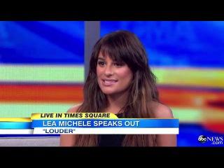 Lea michele 'music should be personal' gma