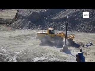 Добыча серебра Компания Полиметалл Магаданская обл пос Омсукчан весна 2014 г
