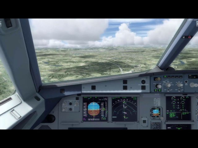 P3Dv3 1 Aerosoft Airbus A319 Manual Landing at LOWG with little Crosswind