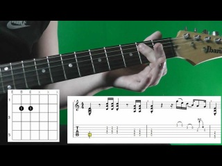 How to Play Back in black by AC/DC (Main Riff) Как играть, Guitar lesson Rus WITH TABS