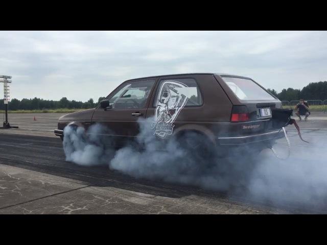 VW Golf 2 VR6 Turbo 4motion RS Autoservice Turbo Gockel Turboscheune Test Tune 07.06.2015