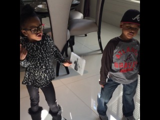 """Monyetta Shaw on Instagram: """"🎶🎶🎶 The M's singing daddy's song #moneycantbuy #neyo 🎤🎤❤️❤️❤️❤️ #Nonfiction OUT NOW!!!! They want you to g"""