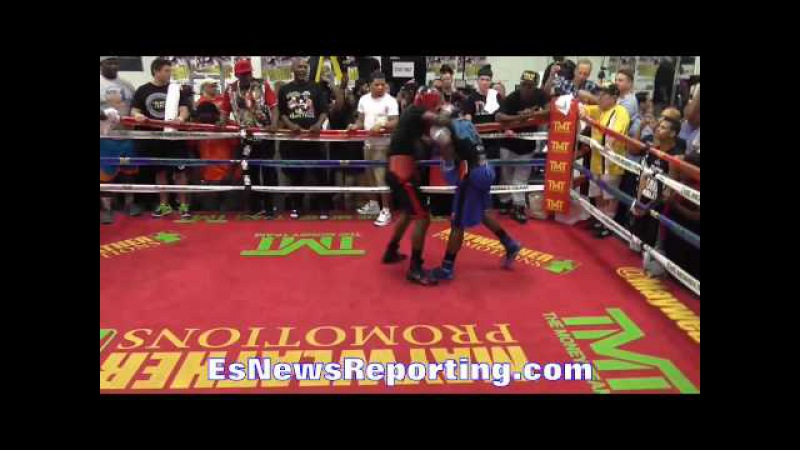 EXLCUSIVE Mayweather sparring 6 minute round 4