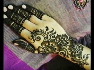 Easy To Make Arabic Henna Mehendi Design : Traditional Bridal Mehendi