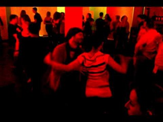 Ilker (Mambo Ilk) during social salsa dancing (on 2 style)