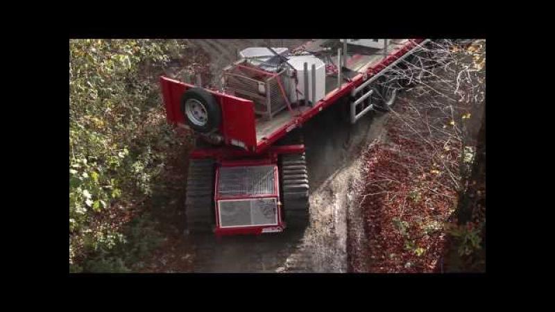 Schwerlasttransportraupe TC 50 bei Transport und Montage eines Mobilfunkmasten