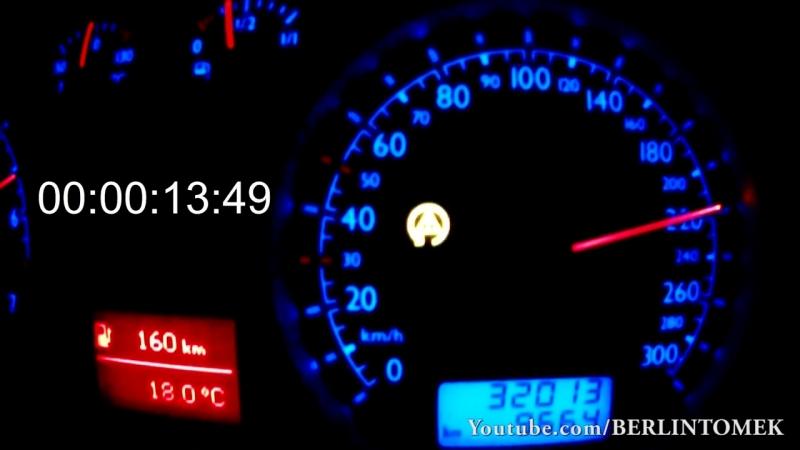 VW Bora DIESEL 0 320 Acceleration Autobahn Onboard Turbo Gockel Beschleunigung Jetta