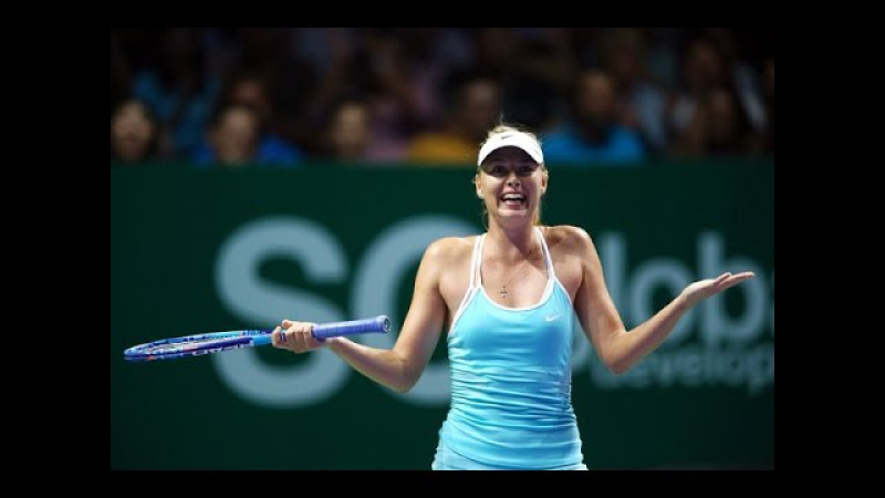 [HD] Maria Sharapova vs Agnieszka Radwanska YEC Singapore 2015 Highlights