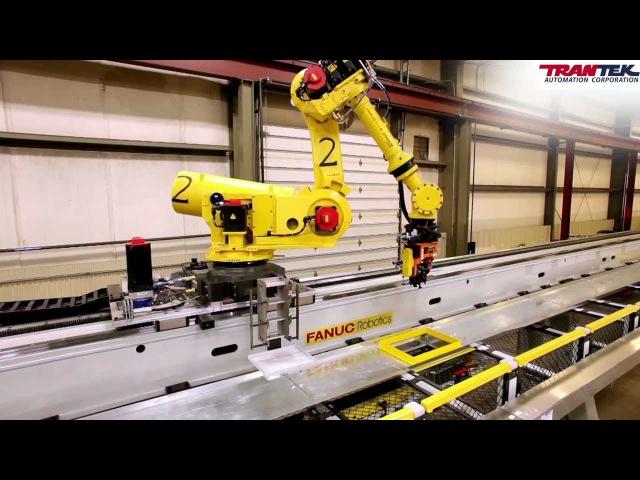 FANUC R 2000iB Flying Robots in Camshaft Machining Center Courtesy of TranTek Automation
