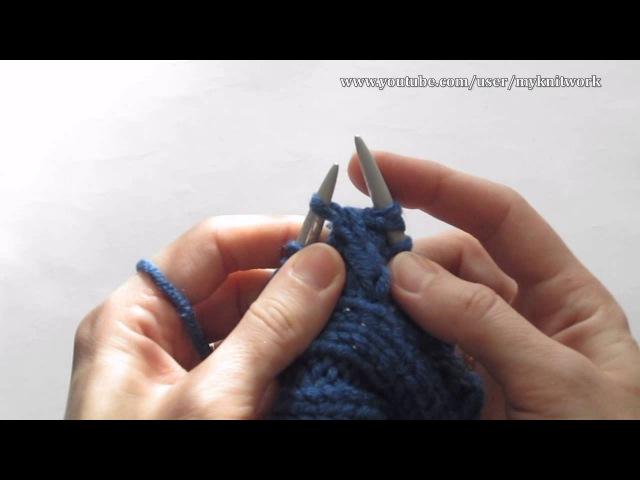 Вязание спицами Вяжем шапку ушанку Часть 2 Knitting Knit hat with earflaps Part 2