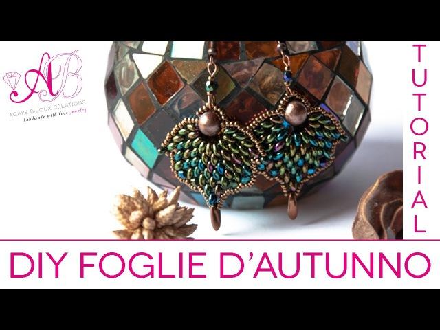 DIY Tutorial Foglia dautunno con Twin beads (per il 3° concorso artedeco)