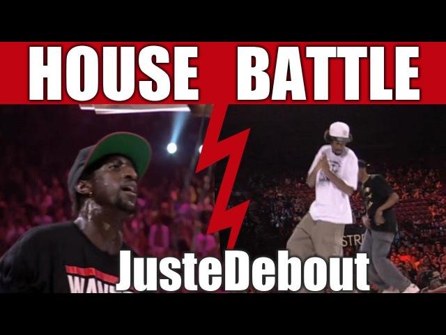 Juste Debout 2012 - House dance final - Mamson Babson vs Serge Kapela
