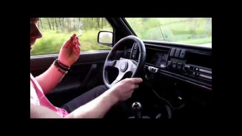 Turbo Gockel Sonntagsausflug mitn VW Golf Mk2 VR6 Turbo 700PS SeeRenner