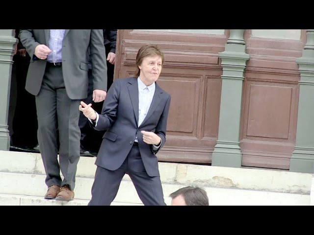 Paul McCartney and his wife Nancy Shevell, Anna Wintour and more at the Stella McCartney Fashion Sho
