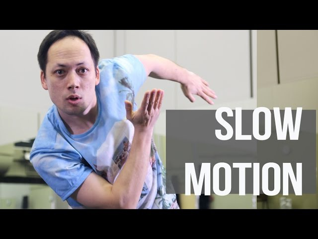 SLOW MOTION: robot dance, popping, dubstep