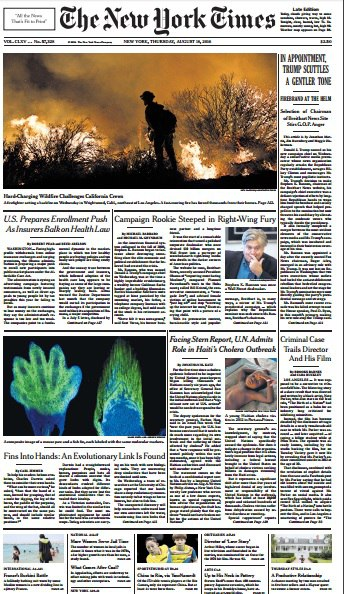 The New York Times  August 18 2016