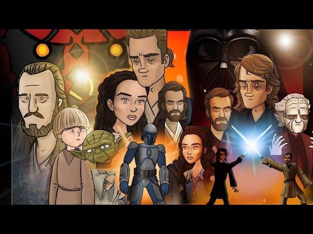 Как должны были закончиться Звездные войны Эпизод 1-3 [No Sense озвучка]