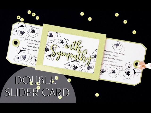 Double Slider card Открытка с 2мя выдвижными элементами