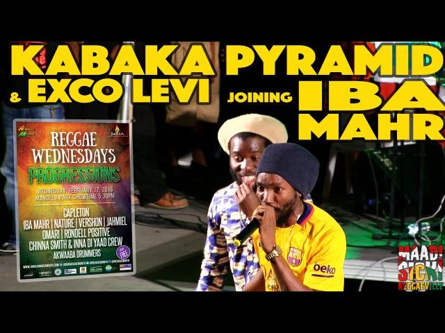 Kabaka Pyramid Exco Levi joining Iba Mahr @Reggae Wednesdays in Kingston Jamaica 2 17 2016
