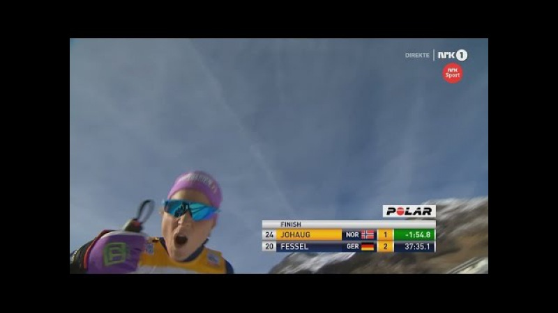 Therese Johaug wins 15K [F] with a giant margin - Davos 2015